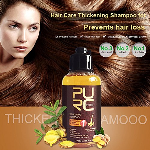 Hair Growth Shampoo, 100ml Professional Hair Care Thickening Shampoo Strenghten Hair Loss Accelerator, Stimulates Hair Re-growth, For Men & Women by Yotown (Image #2)