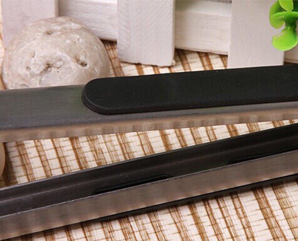 Asosmos silicone e acciaio INOX pinze da cucina utensili da cucina s
