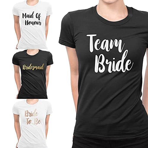 Team Bride T-shirt Bride To Be Hen Party Custom Personalised Ladies Tribe Squad