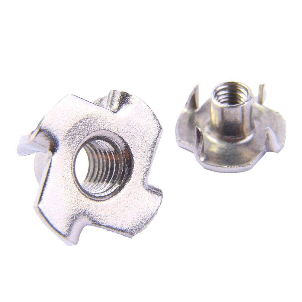 Einschlagmuttern V2A M10 Edelstahl A2 (5 Stü ck) - Gewinde-Schlagmuttern Einpressmuttern D´s Items