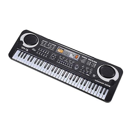 61 Teclas Música Electrónica Teclado Órgano Eléctrico Con Micrófono Niños Instrumento Musical Herramienta Educativa Temprana Para