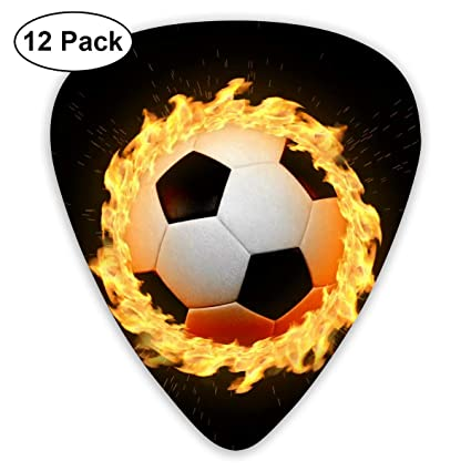 Amazon com - CoolStuff Animated Soccer Spinning Ball On Fire Guitar
