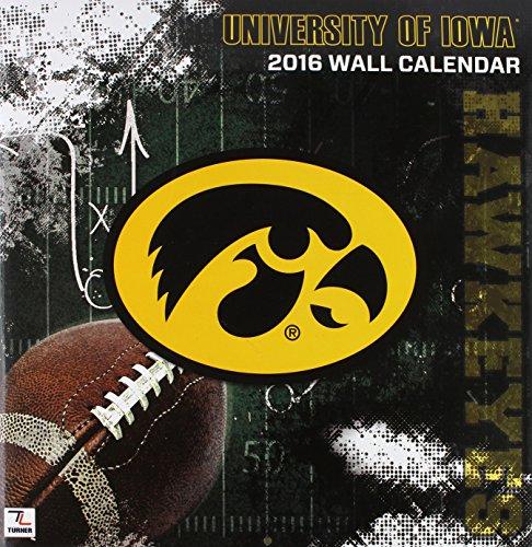 "Turner Iowa Hawkeyes 2016 Team Wall Calendar, September 2015 - December 2016, 12 x 12"" (8011832)"