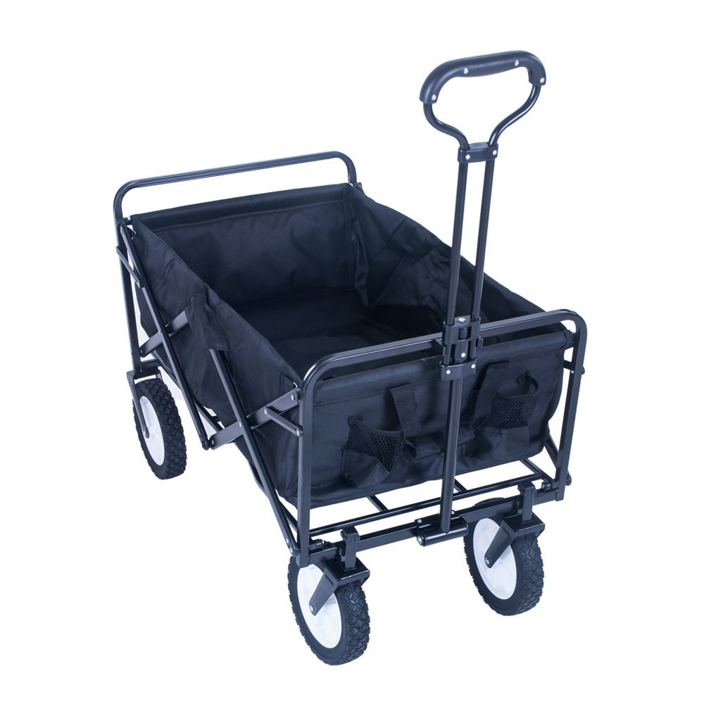 Blue Hand Cart Festival Garden Trolley Foldable 150x56x63cm