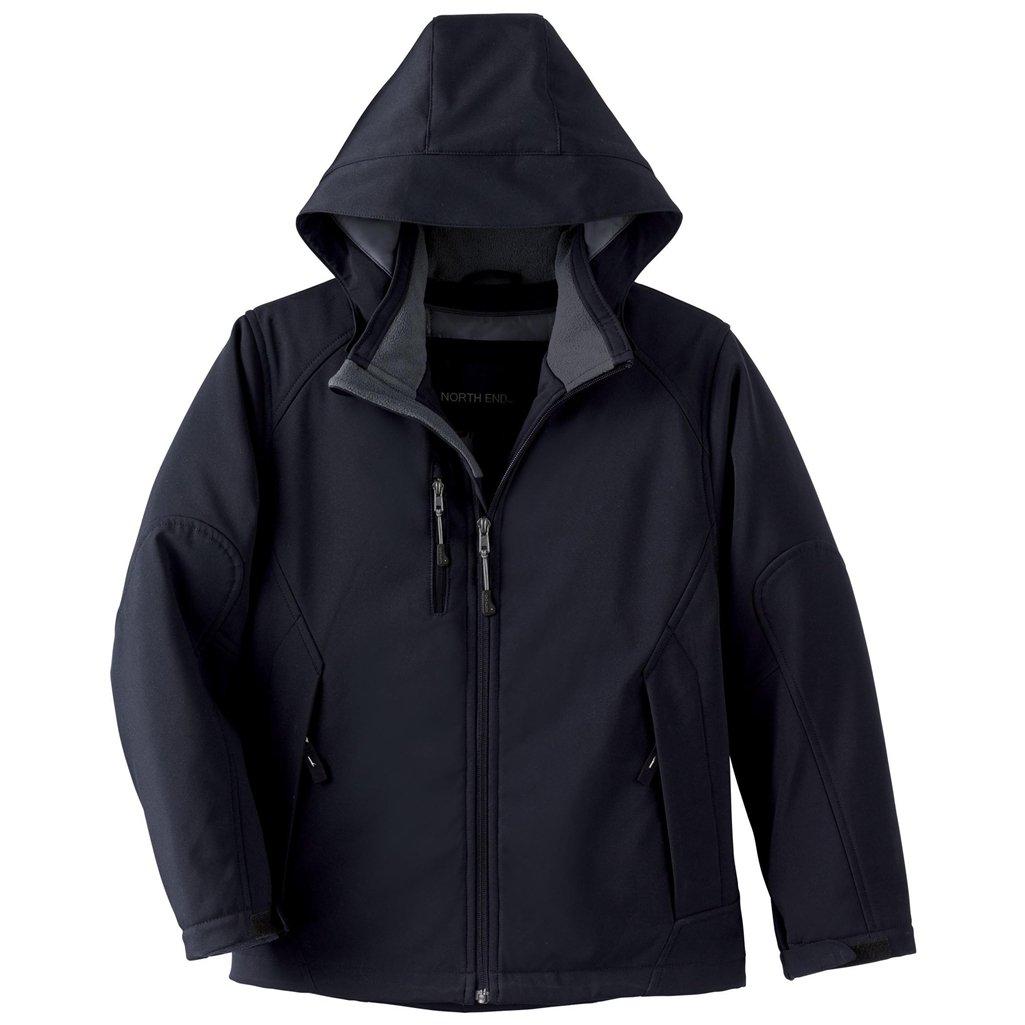 Ash City Glacier Youth Insulated Soft Shell Jacket (Medium, Black) by Ash City Apparel