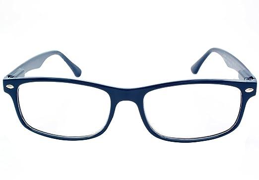TBOC Gafas de Lectura Presbicia Vista Cansada - (Pack 4 Unidades) Graduadas +1.00 Dioptrías Montura de Pasta Azul Marrón Negra Carey Diseño Moda ...