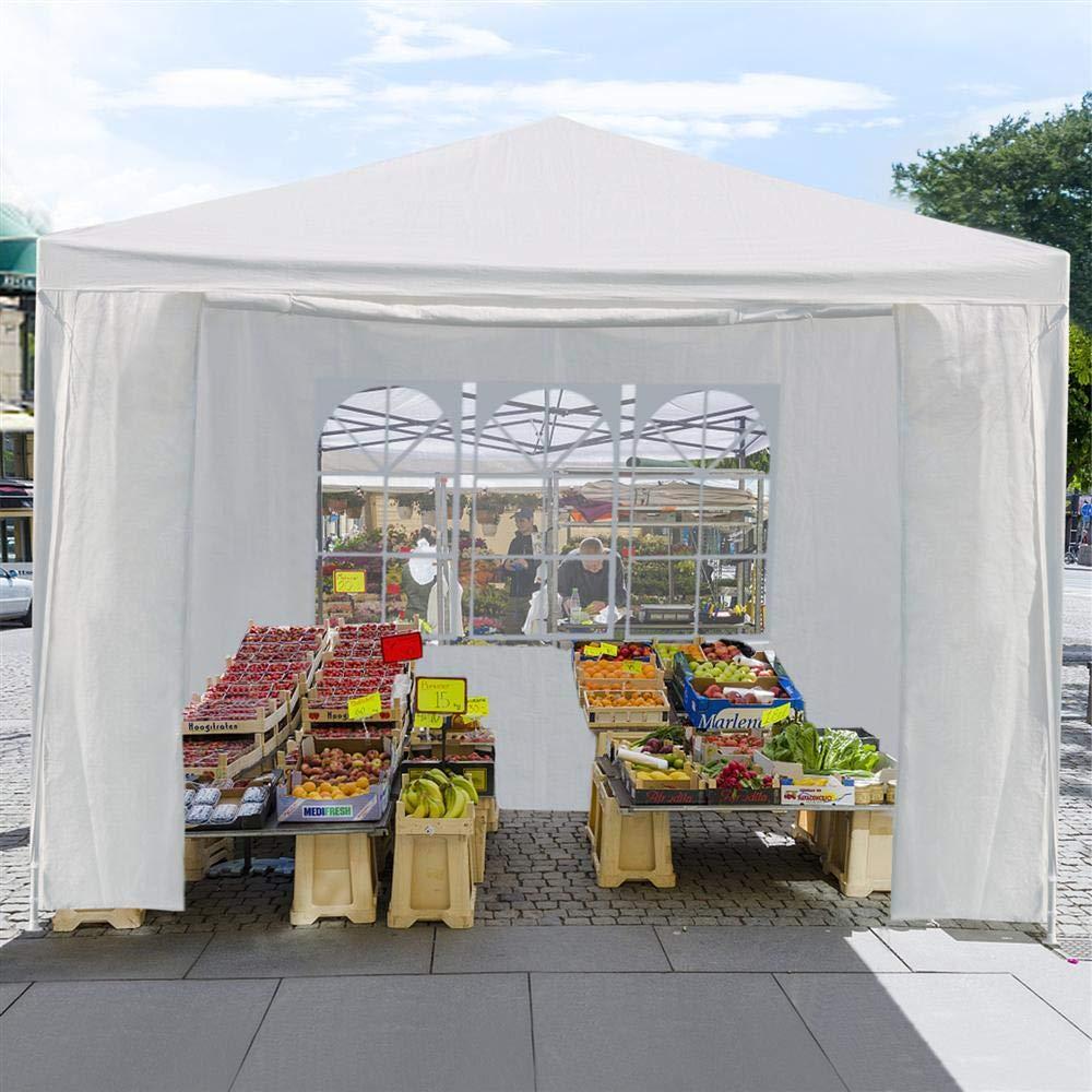 Yaheetech Tonnelle de Jardin Tente de r/éception Gazebo Pavillon 3 x 3 m Imperm/éable en PE 4 Parois avec fen/être