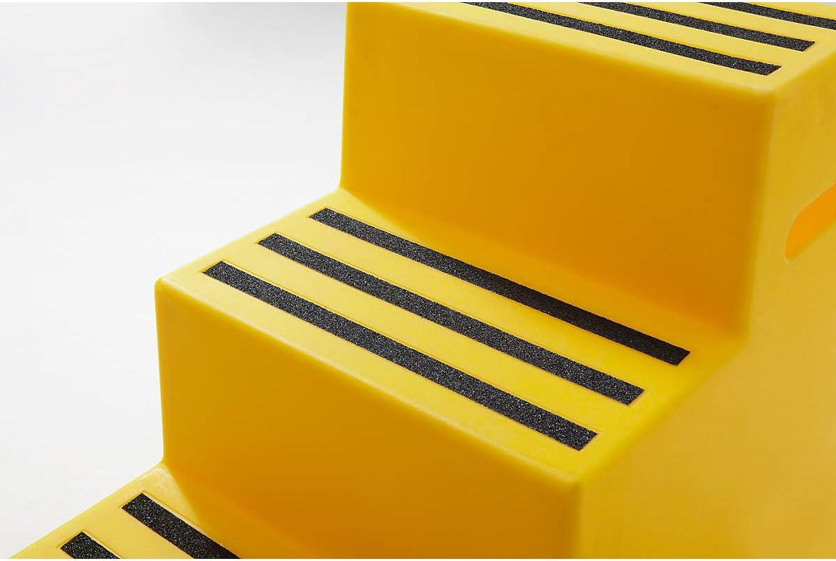 gepr/üft nach EN 14183:2003E 3 Stufen Kunststoff-Tritt mit rutschfesten Stufen abwaschbar feuerrot Kunststoff-Tritt Steighilfe Tritt