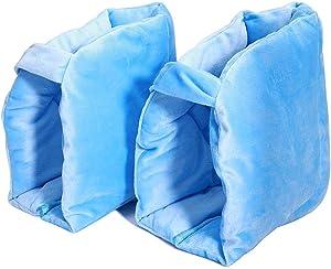 Fushida 2 PCS Heel Protectors,Foot Protector Pillows Use Hollow Cotton Material,Secure Comfort Heel Pillow Protector Prevent Decubitus Ulcers Relief(A pair, FYH348) (2 PCS)