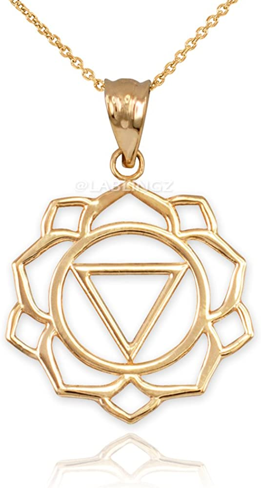 14k Yellow Gold School House Pendant