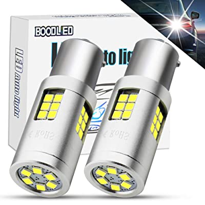 BOODLIED 20Watts No Hyper Flash 1156 LED Bulbs High Power 3030 30-SMD Chips P21WY 7507 BAU15S LED Lamps For Backup Reverse Lights,Turn Signal Lights.(No Load Resistor Required) Xenon White.: Automotive