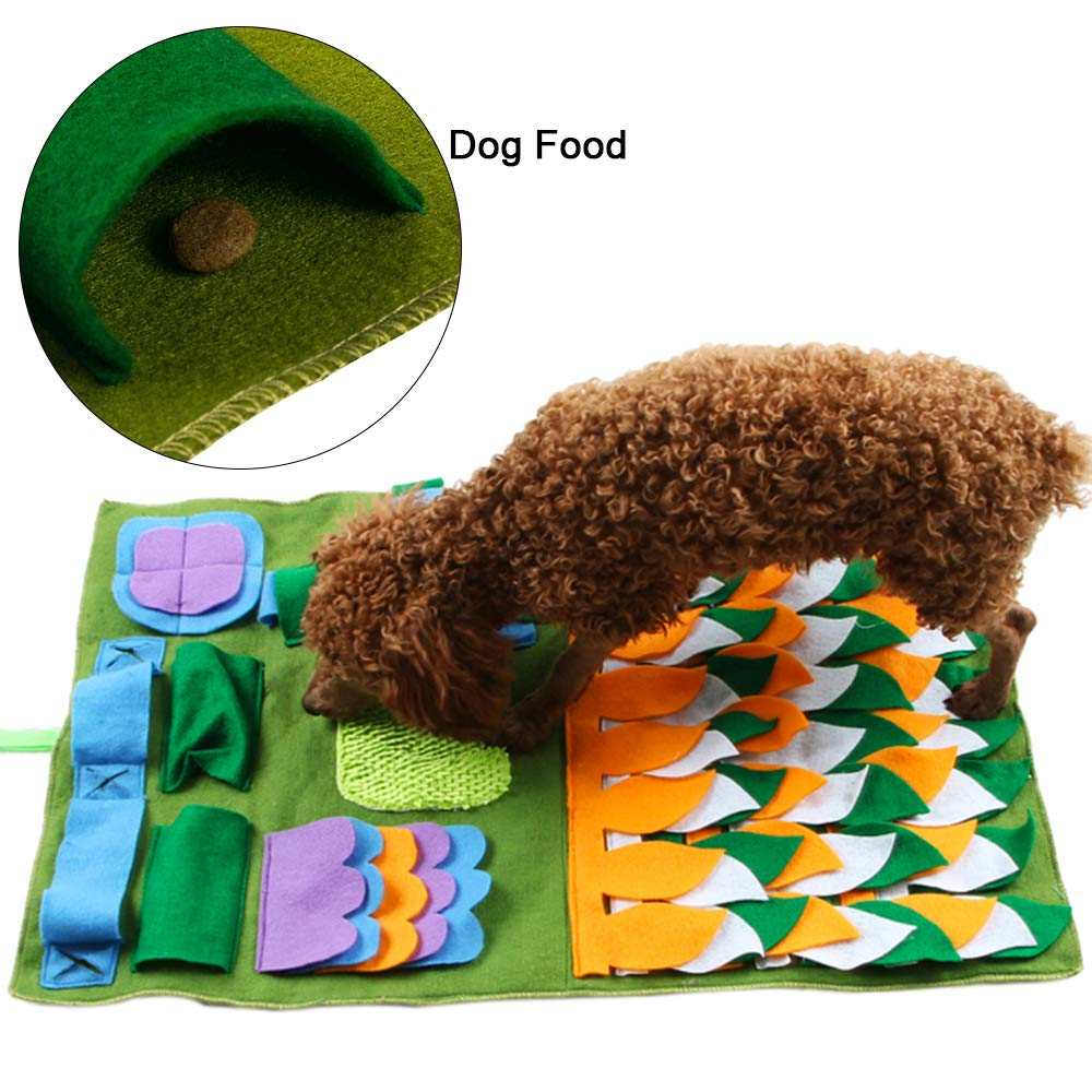 FREESOO Snuffle Mat Nosework Blanket Dog Feeding Mat Pet Training Play Mats Puzzle Toys for Stress Release