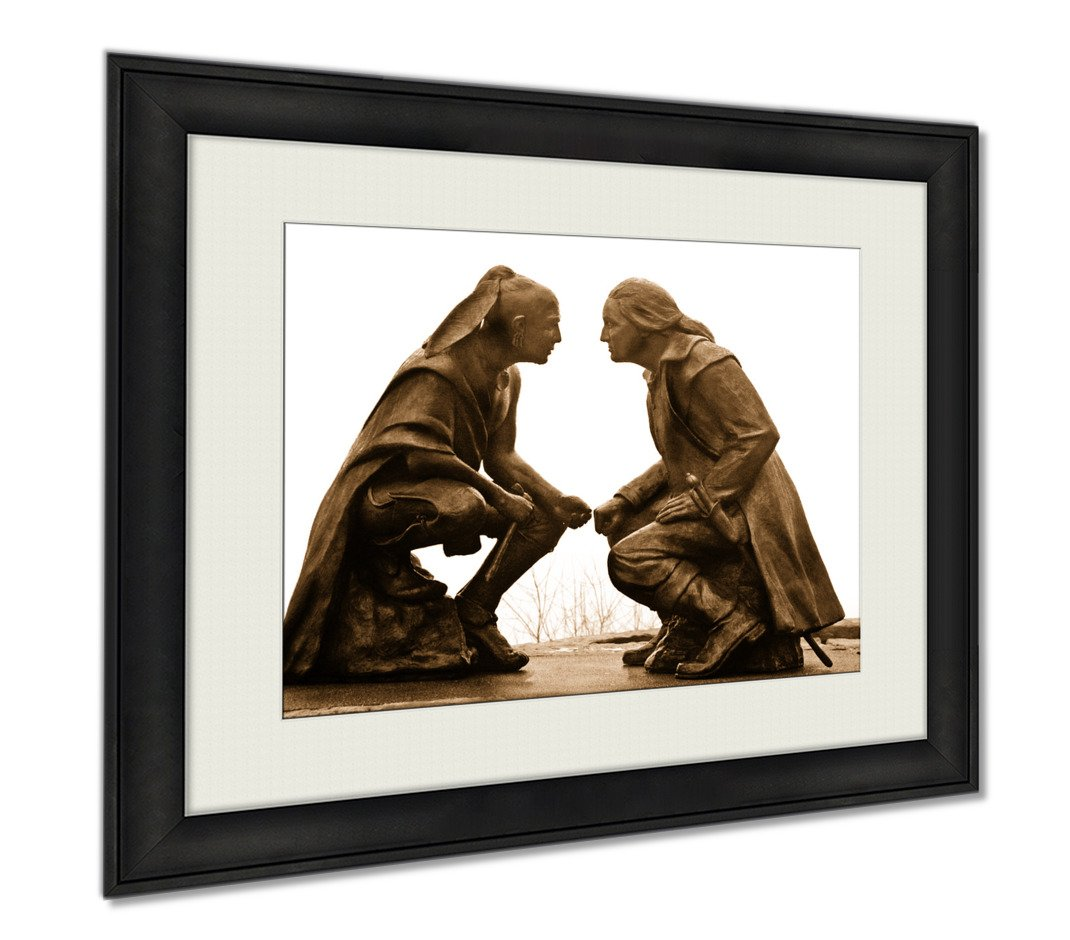 Ashley Framed Prints Pittsburgh Monument, Wall Art Home Decoration, Sepia, 26x30 (frame size), AG6500782