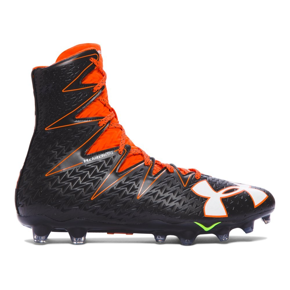 [アンダーアーマー] ハイライト MC フットボールクリート B01D5LRVBG Black/Team Orange 9.5 D(M) US 9.5 D(M) US|Black/Team Orange