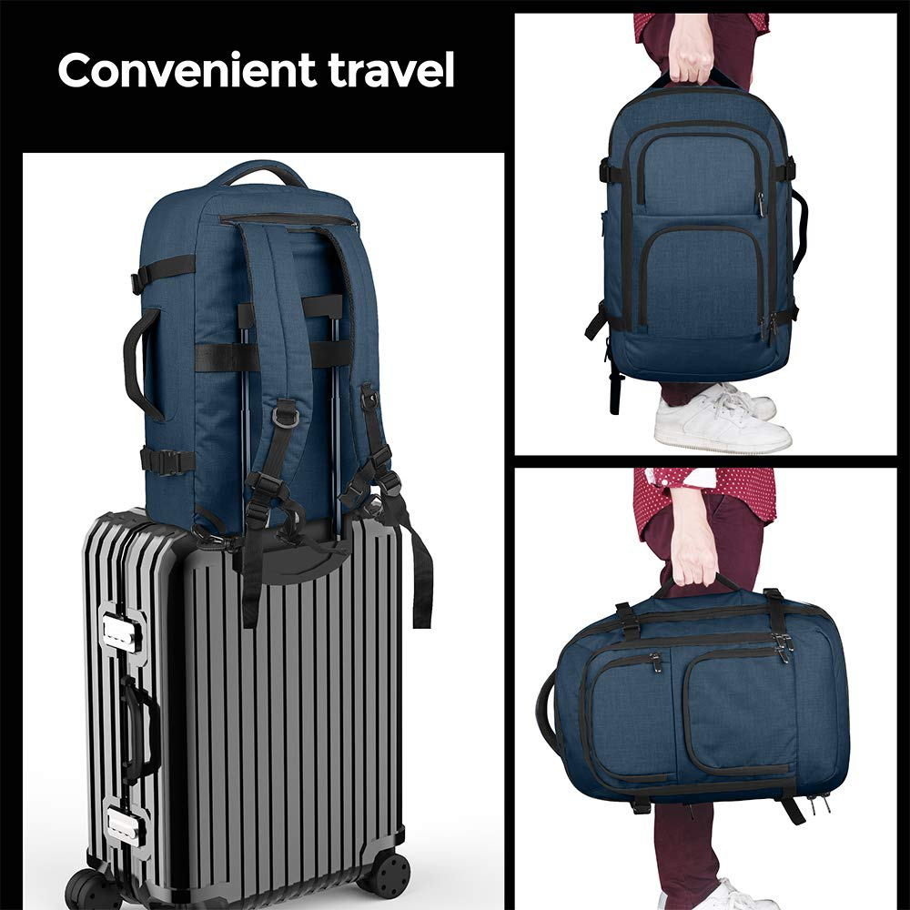 Dinictis 40L Flight Approved Travel Backpack, Waterproof Business Carry on Backpack fit 15.6 Inch Laptop, Durable Weekender Bag for Men and Women (Blue) by Dinictis (Image #7)