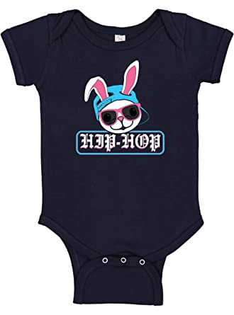 28ac1ab4750b Amazon.com: Panoware Funny Baby Easter Boy Bodysuit | Hip Hop Bunny ...