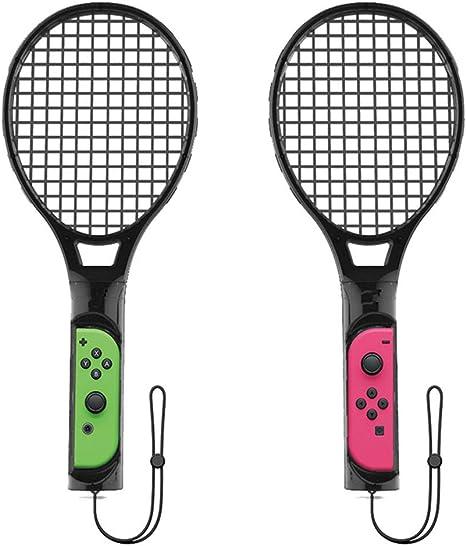Raqueta de tenis para Nintendo Switch JollyJelly Raqueta de tenis para Joy con controladores Mario Tennis Aces Switch Juego 1 par con muñequeras: Amazon.es: Videojuegos