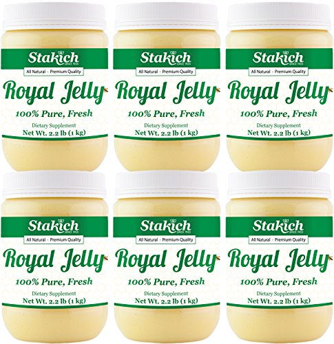 Stakich FRESH ROYAL JELLY - 100% Pure, All Natural, Highest Quality - No Additives/Flavors/Preservatives Added - 6 KG by Stakich