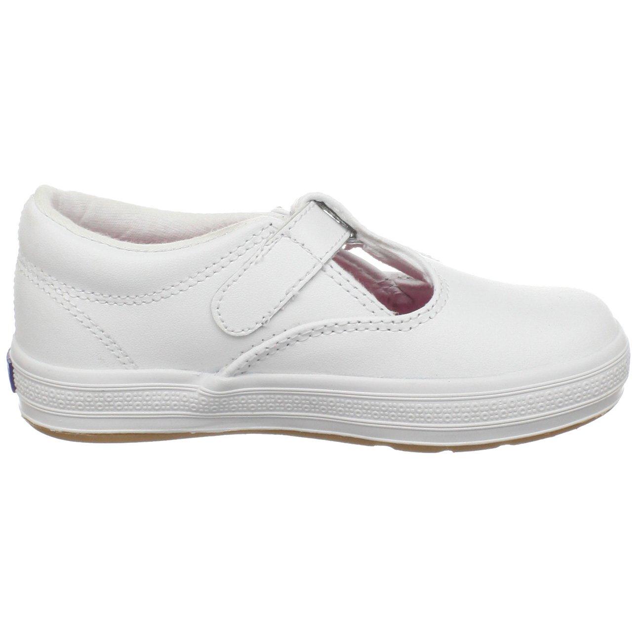 Keds Daphne T-Strap Sneaker (Toddler/Little Kid), White, 12 M US Little Kid by Keds (Image #6)