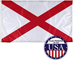 Vispronet - Alabama State Flag - 3ft x 5ft Knitted Polyester, State Flag Collection, Made in The USA (Flag Only)