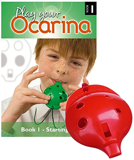 with FREE DELIVERY Green 4-hole Play Your Ocarina BOOKs 1 and CAROLS OCARINA
