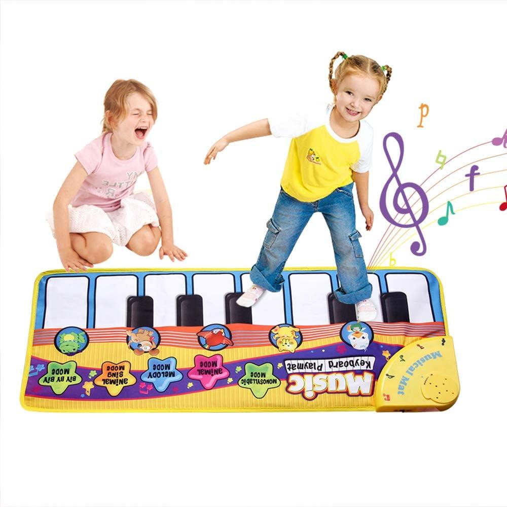 Fabur Alfombra Musical,Alfombra Piano Canto de Teclado Estera de Alfombra Bebé Niño Juego Musical para niños Regalo