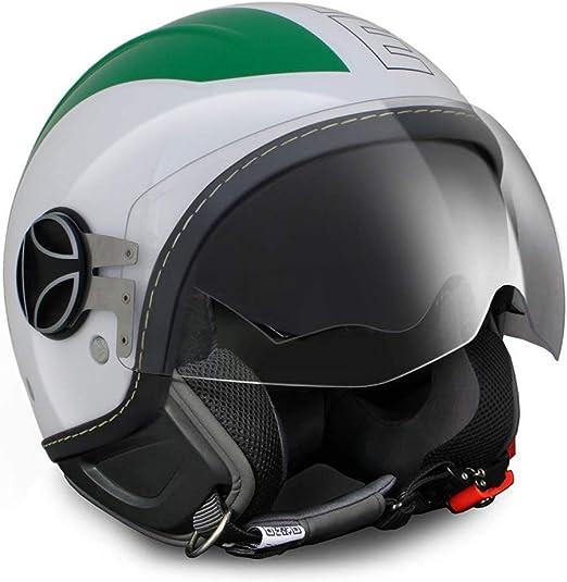10030080013 CASCO MOMO AVIO PRO ITALIA VERDE//BIANCO//ROSSO 150/° DECALC OUTLINE NERA S