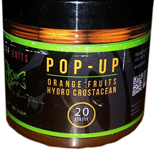 Over Carp Boilies Pop-Up Orange Fruits Hydro Crustacean 20 mm Pesca POP 20 ORAN