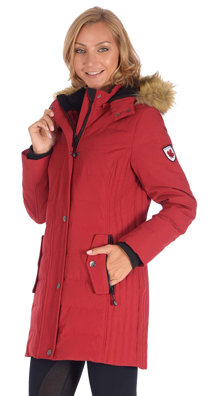 Polar Glacier Woman's Snap-Front Premium Down Parka