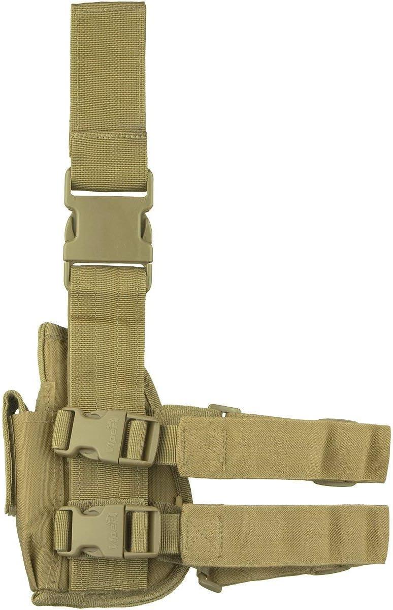 Viper TACTICAL - Funda de Pistola Vertical para Pierna - para diestros - Coyote