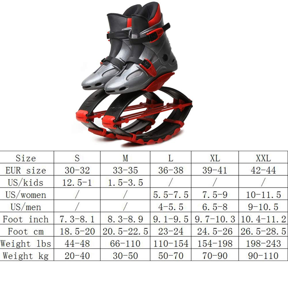 Jump Shoes Bounce Anti-Gravity Fitness Jumping Shoes Unisex Children Adult Running Boots,M by H&M Bouncing shoes (Image #7)
