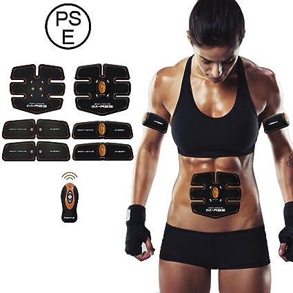 IMATE Cinture di tonificazione muscolare addominale toner elettrico cintura  in vita Trainer Belt ed08535b3f5