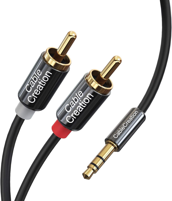 Cablecreation Cinch Kabel 3 5mm Klinkenstecker Auf 2 X Computer Zubehör