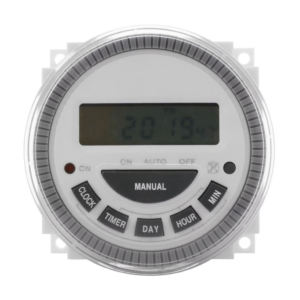 7 Day Programmable Timer Switch- Pool/Gate/Sprinklers/Lights- 120v Input - ET3 Substitute by TLX