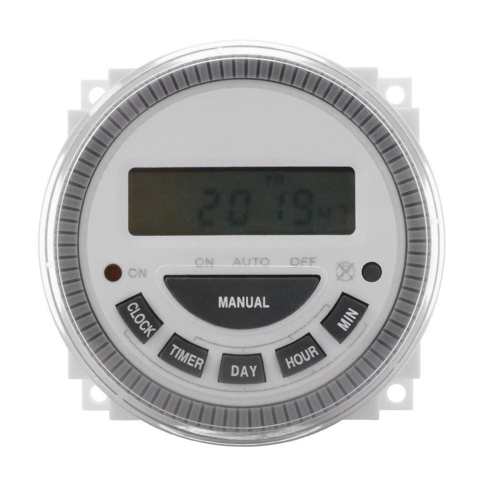 7 Day Programmable Timer Switch- Pool/Gate/Sprinklers/Lights- 120v Input - ET3 Substitute