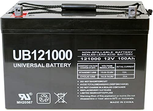 Universal Power Group 12V 100Ah Solar Wind AGM SLA DEEP Cycle VRLA Battery