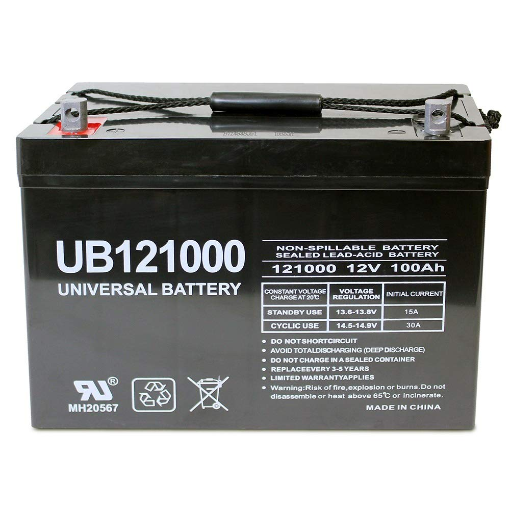 Universal Power Group 12V 100Ah Replacement Battery for Minn Kota, Minnkota, Cobra, Sevylor trolling Motor by Universal Power Group