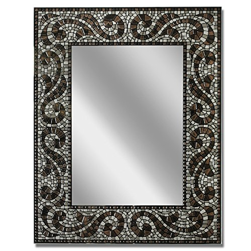 Head West 22 x 28 Espresso Mosaic Mirror, 22x28 inches