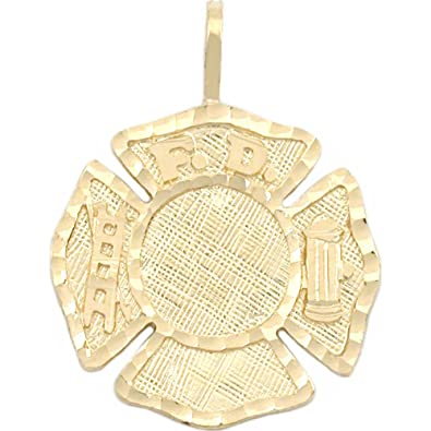 Amazon 14k gold firefighter maltese cross charm fireman 23mm 14k gold firefighter maltese cross charm fireman 23mm aloadofball Image collections