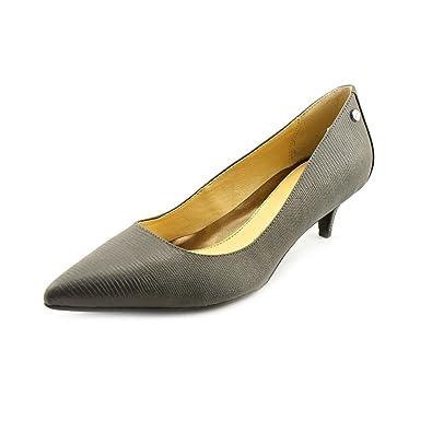Calvin Klein Nicki Damen Grau Spitz Leder Pumps Schuhe Größe