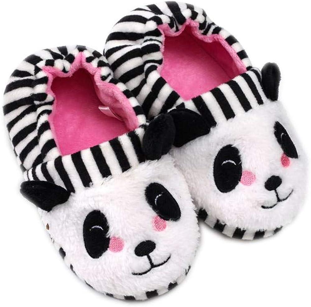 Csfry Baby Girls Premium Soft Plush Slippers Cartoon Warm Winter House Shoes