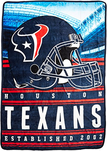 (NFL Houston Texans Stacked Silk Touch Throw, 60