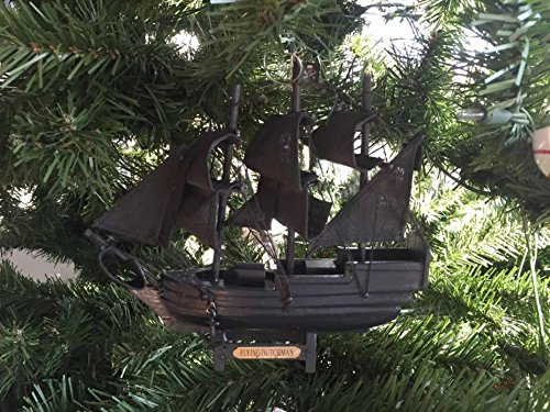 - Handcrafted Nautical Decor Wooden Flying Dutchman Pirates of The Carribbean Model Pirate Ship Christmas Tr