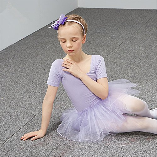 dance clothing Children Dance Costumes Children's dance costume, dancing performance, training dress for girls and ballet dresses for children,Violet,130cm by SJMMWD