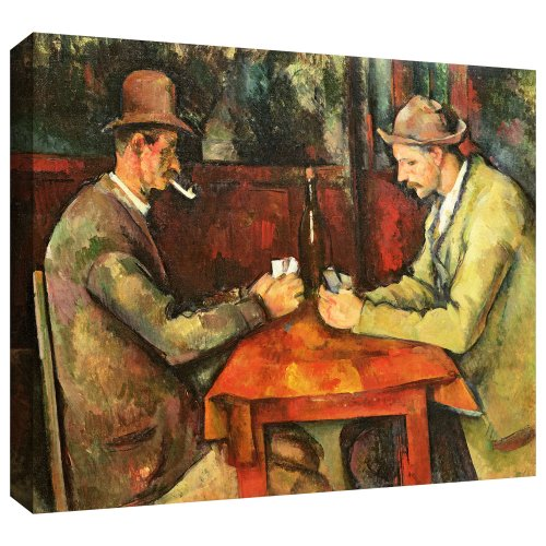 Art Wall Paul Cezanne 'The Card Players' Gallery-Wrapped Canvas, 14 by 18-Inch