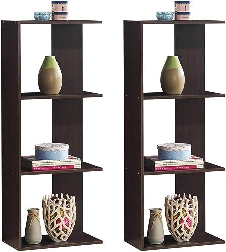 Tangkula 4-Shelf Bookcase