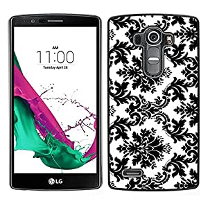 Design for Girls Plastic Cover Case FOR LG G4 Black White Stylish Classy OBBA