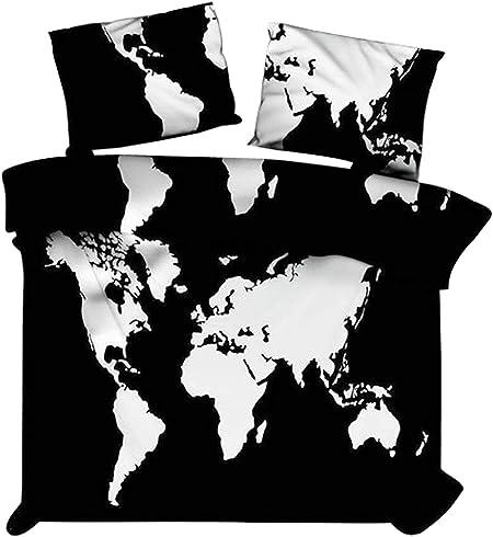 Marusthali Carte du Monde en Noir et Blanc Couverture de ...