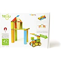 Tegu Magnetic Wooden Block Set, Tints, 42 Piece