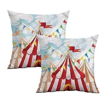 Imagen vintage de circo Impreso Cushion Covers Fundas Almohada De Decoración del hogar o interior